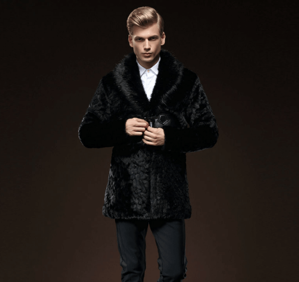 Coat Black | Imitation Mink | Slim