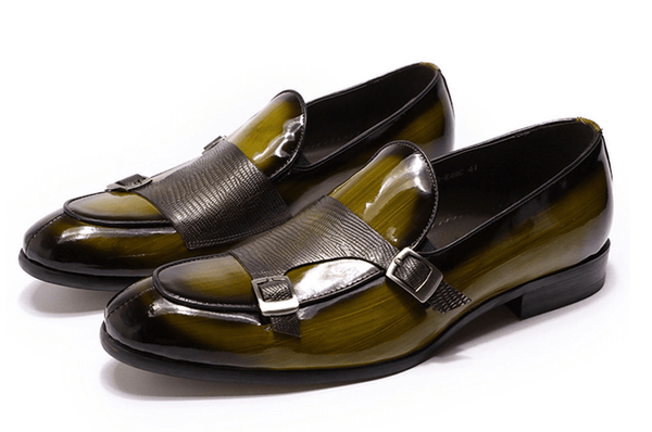 Dress Green Shoes |  Monk Strap