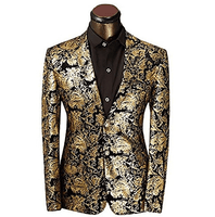 Gold Blazer | Suit Jacket Fashion