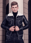 Leather Jacket|Warm Lamb|Black