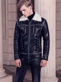 Jacket Leather|Warm Lamb|Black
