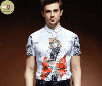 Print Shirt Fashion | European Slim | Anti-Wrinkle | 6 Designs