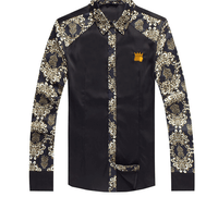 Shirt Black-Gold