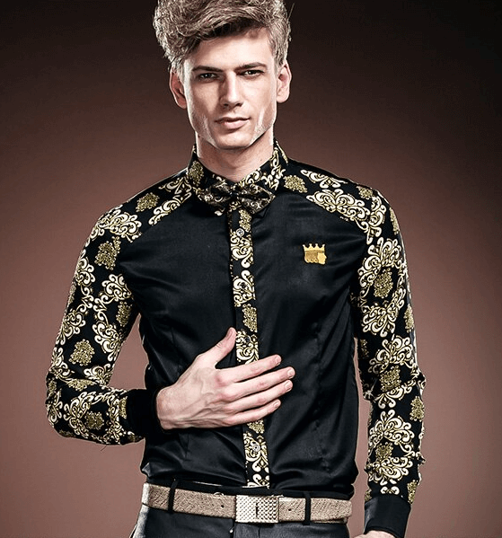 Shirt Black-Gold | Long Sleeved