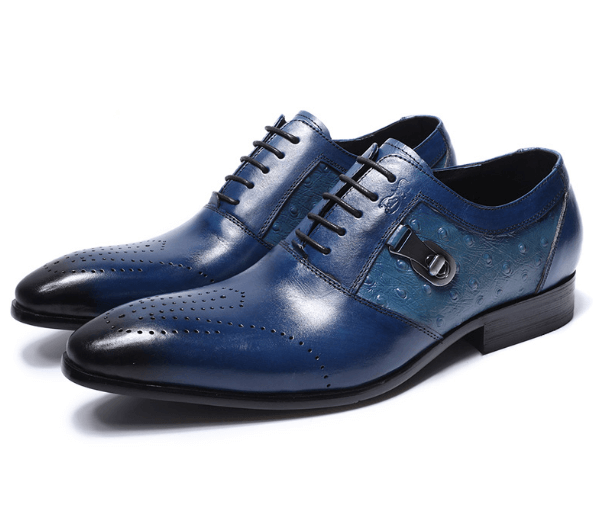 Shoes Brogue Dress|Oxford|Blue-Black