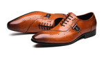 Shoes Brogue |Italian Designer|Black-Brown|Leather- Lace Up