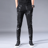 Skinny Elastic Black Trousers | Sweatpants