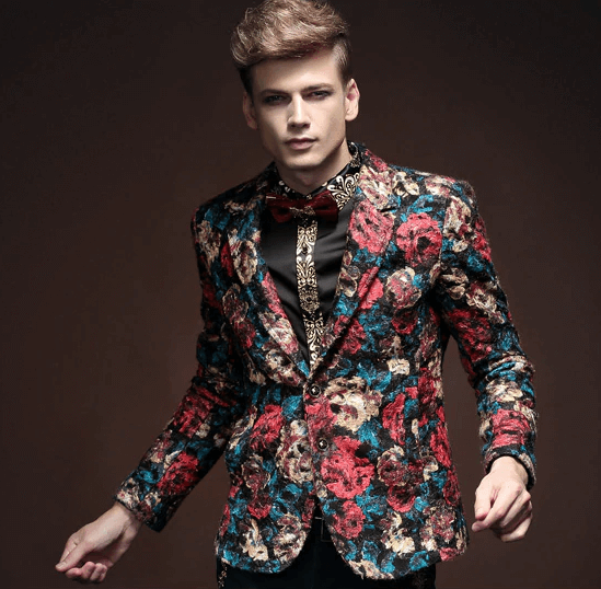 Slim Floral Blazer |  Fashion Jacket | Single Button