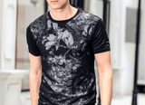 T Shirt Flowers Black Trends |  Short-Sleeved | Slim