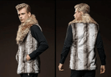 Vest Imitation Rabbit | Large Hair