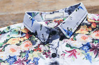 White Shirt Printed Flowers