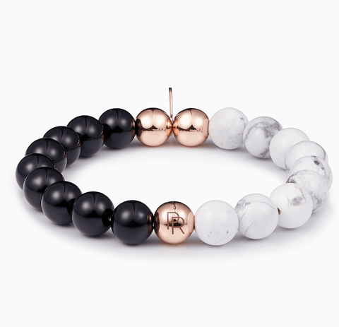 Marble Black Onyx Rose Gold Bracelet