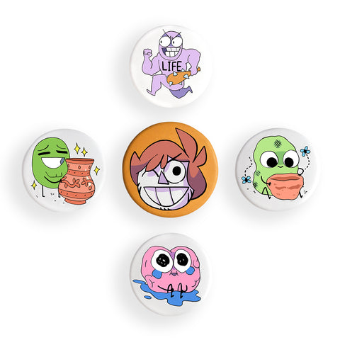 """Owlturd"" Button Set"