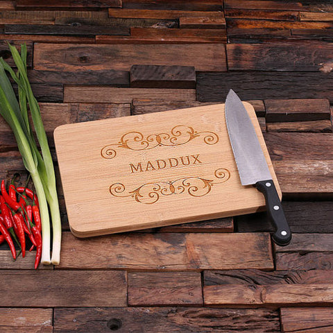 personalized bamboo wood cutting boards with country family design, wooden gifts, housewarming gifts, anniversary gifts, wedding gifts