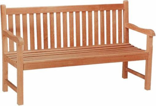 3-Seat Wood Bench | Garden Wooden Bench With Straight Back | Teak Wood