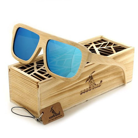 Wooden Sunglasses For Men | Polarized Shades with Wooden Wood Gift Box