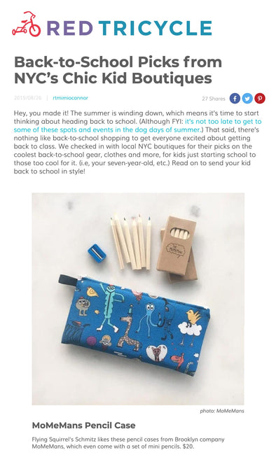 Our pencil cases made Red Tricycle's list for Back-to-School Picks!