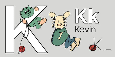 The MoMeMans ZYX Project. Letter K: Kevin by Monica Escobar Allen.