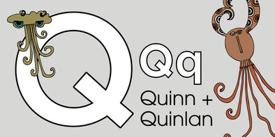 The MoMeMans® ZYX Project. Letter Q: Quinn + Quinlan by Monica Escobar Allen.