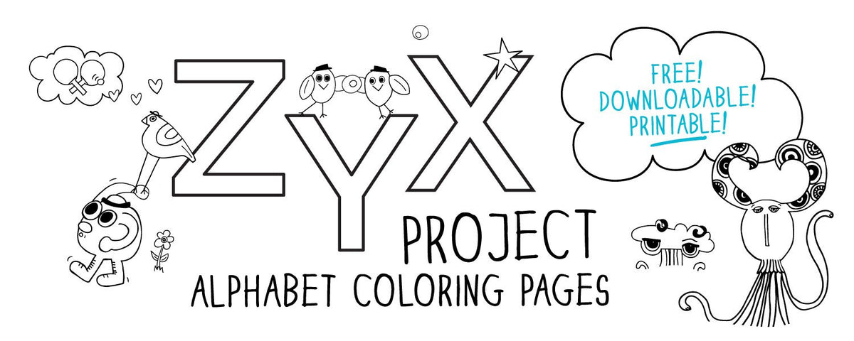 Free Downloadable Alphabet Printable Coloring Pages for babies, toddlers, preK and kinder.