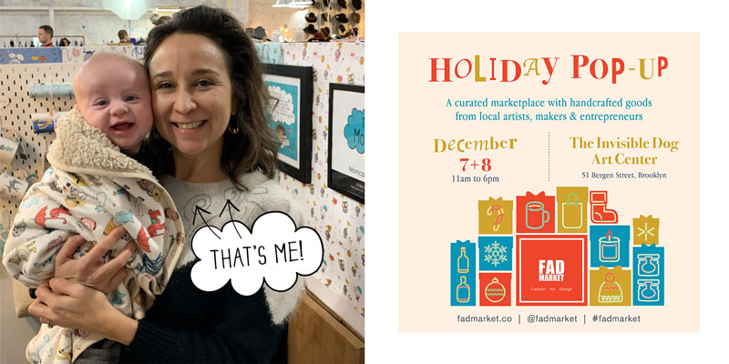 The MoMeMans Holiday Pop-Up at the Invisible Dog Art Center in Cobble Hill, Brooklyn Dec 7-8th