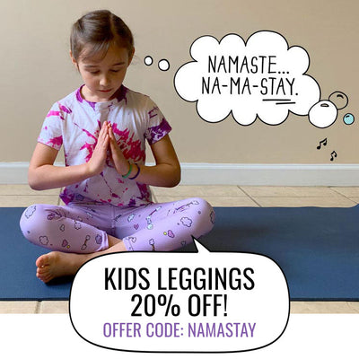 20% OFF Kids Leggings. Offer Code: namastay