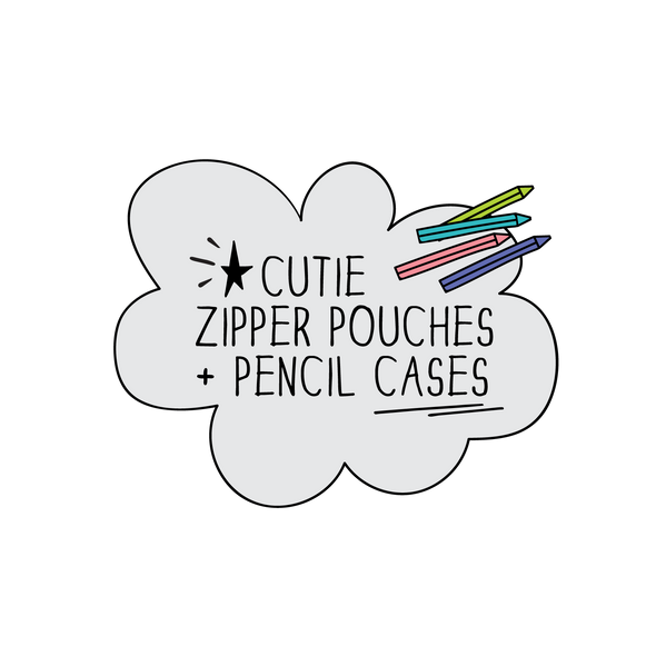The MoMeMans® Machine Washable Cutie Zipper Pouches + Pencil Cases.