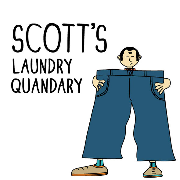 Scott's Laundry Quandary. The MoMeMans® by Monica Escobar Allen.