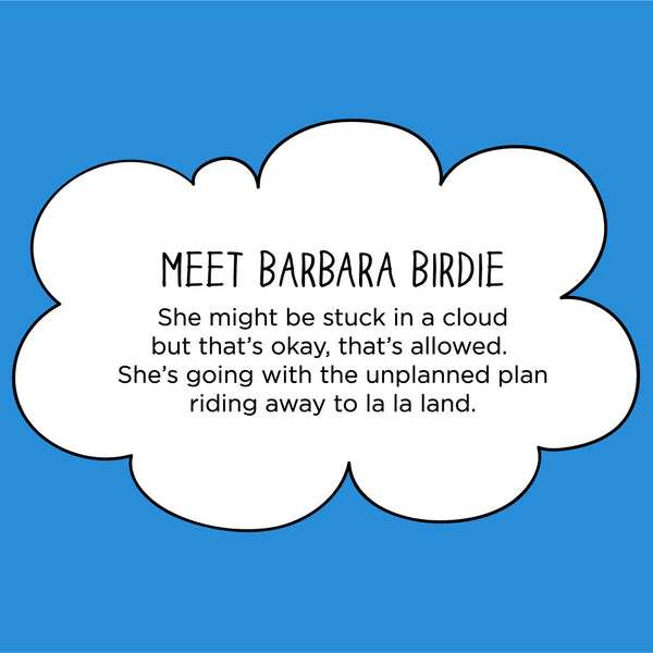 Meet Barbara Birdie. The MoMeMans® by Monica Escobar Allen.