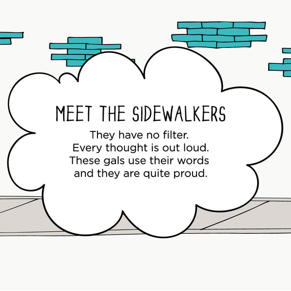Meet The Sidewalkers. The MoMeMans® by Monica Escobar Allen.