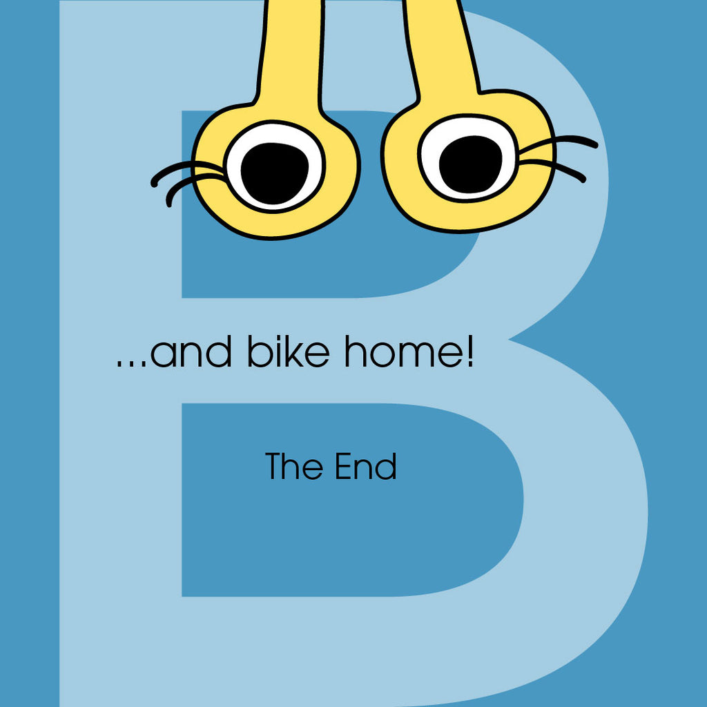 ...and bike home! Bea is confused. The End.
