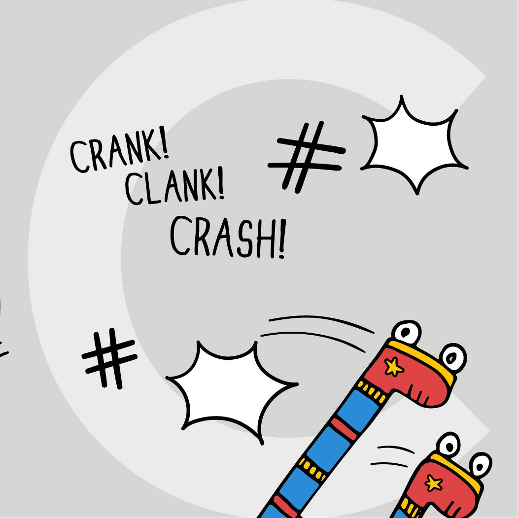 Crank! Clank! Crash! (Camila's legs go flying!)