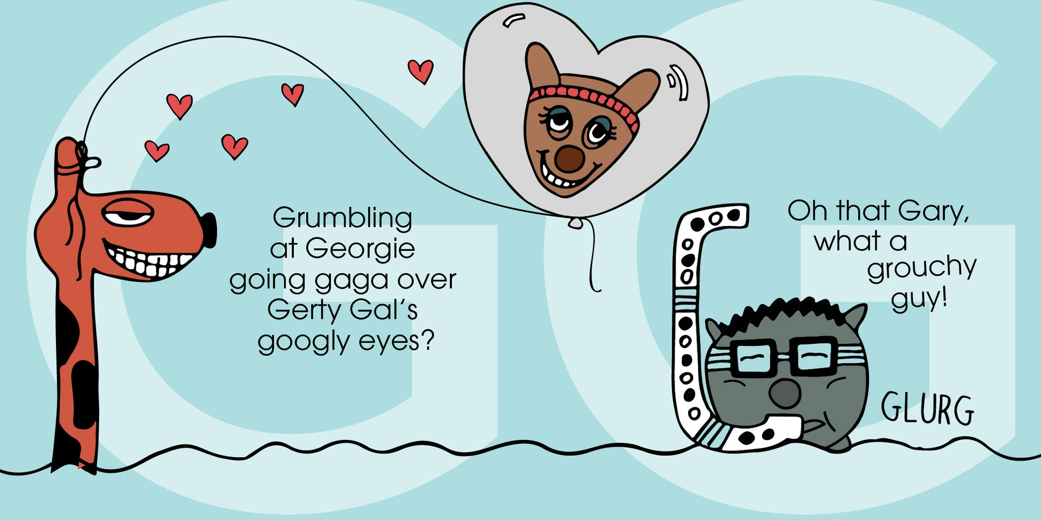 The MoMeMans™ ZYX Project. Letter G: Georgie + Gary by Monica Escobar Allen.