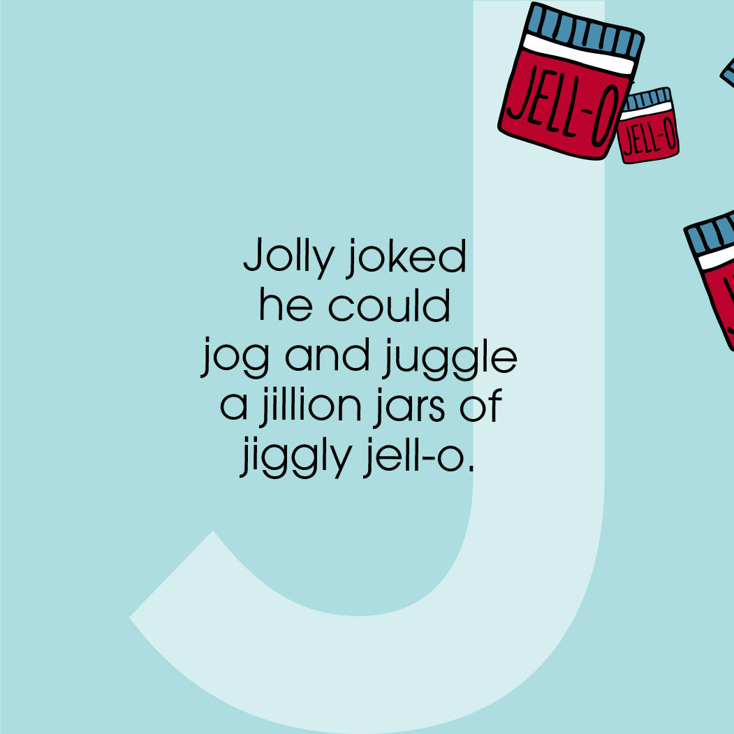 The MoMeMans ZYX Project. The Letter J: Jolly + Julius June by Monica Escobar Allen.
