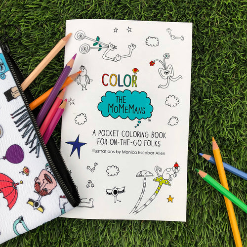Color The MoMeMans Pocket Coloring Book by Monica Escobar Allen
