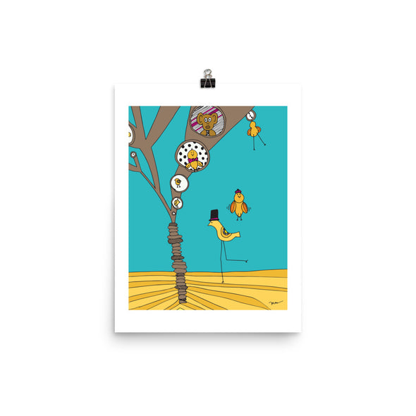 The MoMeMans® Treehouses Print by Monica Escobar Allen
