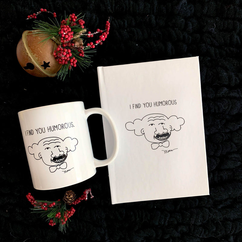 "The MoMeMans® ""I Find You Humorous"" Hubert Gift Bundle for all the funny folks in your life by Monica Escobar Allen"