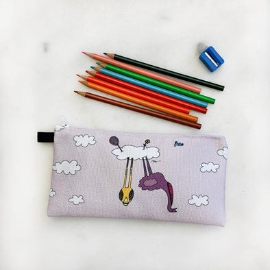 The Cloud Birds Pencil Case for Back to PreK from The MoMeMans® by Monica Escobar Allen