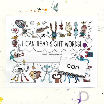 "Free Printable ""I Can Read Sight Words!"" Cut Out Flash Cards + Certificate. The MoMeMans® by Monica Escobar Allen"