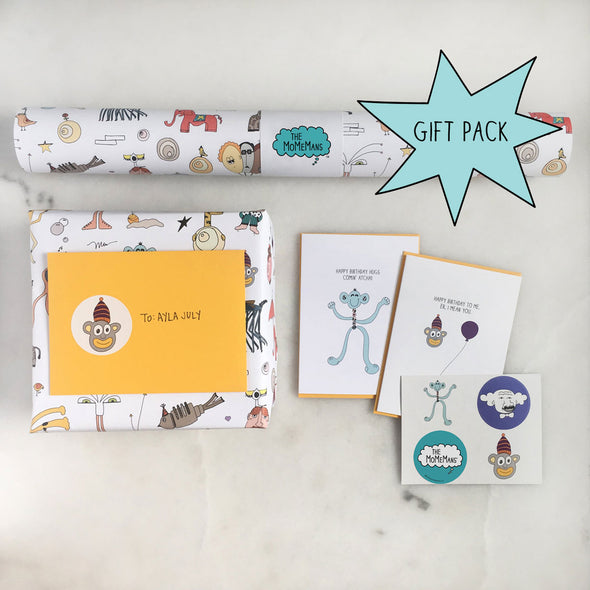 Meet the MoMeMans Happy Birthday Gift Pack from The MoMeMans™ by Monica Escobar Allen