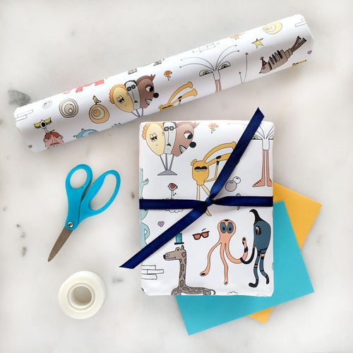 The MoMeMans™ Signature Gift Wrap by Monica Escobar Allen