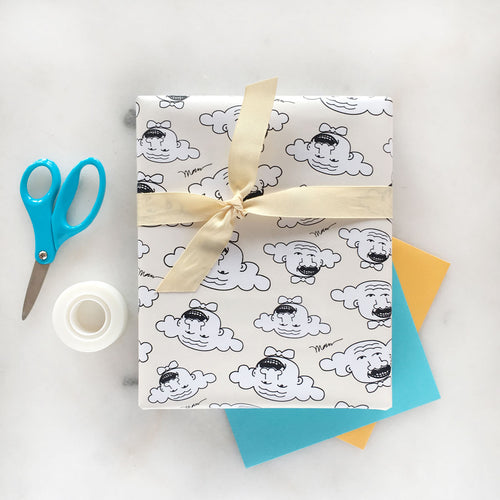 The MoMeMans™ Hubert Gift Wrap by Monica Escobar Allen
