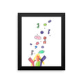 "Hands Throwing Rainbows ""ColorMe"" Print. The MoMeMans™ by Monica Escobar Allen"