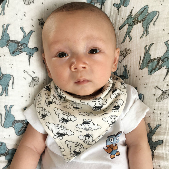 I Find You Humorous Baby Bandana Bib from The MoMeMans by Monica Escobar Allen