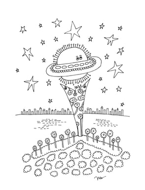 "FREE Printable Iskra ""Color Me"" Coloring Page. The MoMeMans® by Monica Escobar Allen."