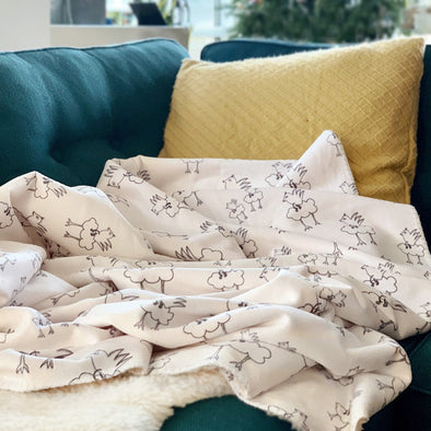 The MoMeMans® Barbara Birdie Toddler-Chic Sherpa Blanket by Monica Escobar Allen