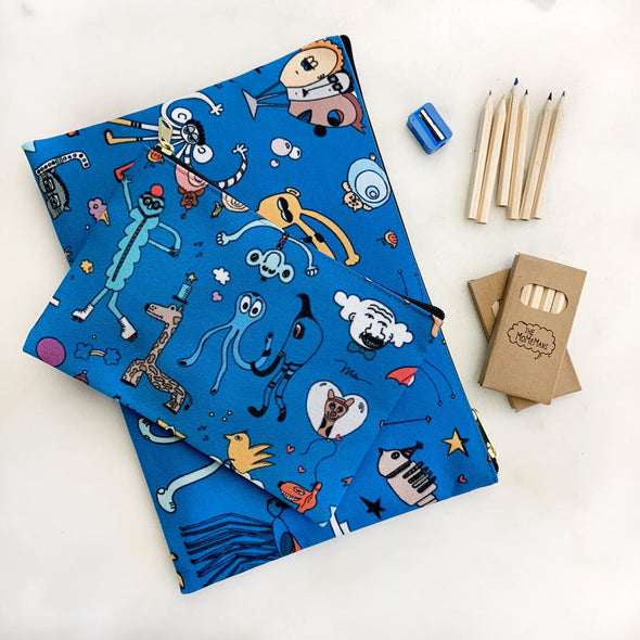 The MoMeMans Zipper Pouch for Back to PreK by Monica Escobar Allen