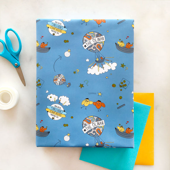 The MoMeMans™ Olinda + Omar Gift Wrap by Monica Escobar Allen
