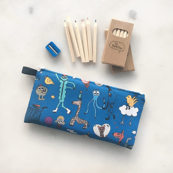 The MoMeMans Pencil Case by Monica Escobar Allen