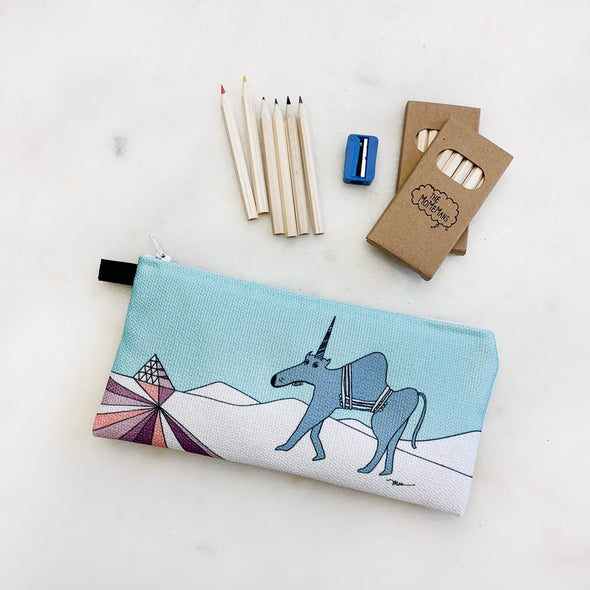 The MoMeMans® Ulysses Ulinsky School Friendly Pencil Case by Monica Escobar Allen